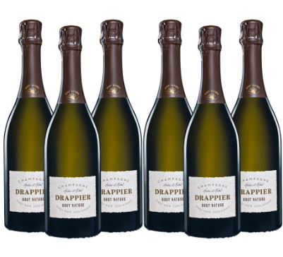Caja de 6 botellas de Champagne Drappier Brut Nature