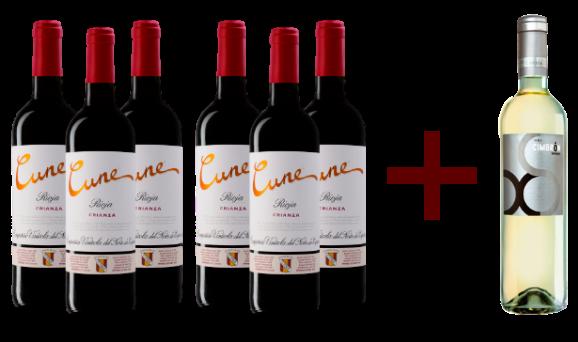 Pack Cune Rioja + Viña Cimbrón Sauvignon de Regalo