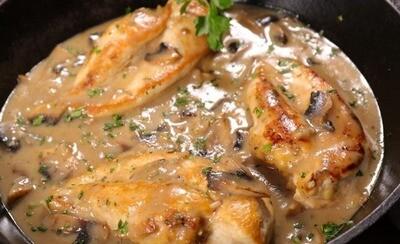 Poulet aux champignons (350 gr)