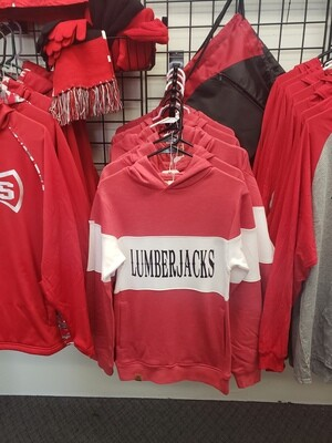 Lumberjack Spiritwear -Holloway Red w/white stripe Hoodie