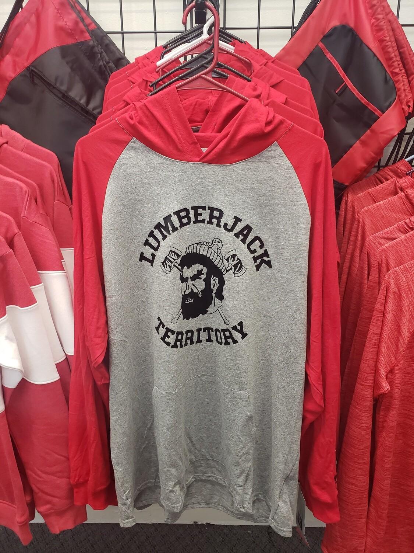 Lumberjack Spiritwear - Russell Athletic Red/Grey with hood