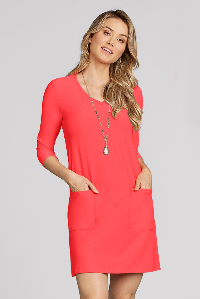 JUDY P DRESS 77116 3/4 SLEEVE