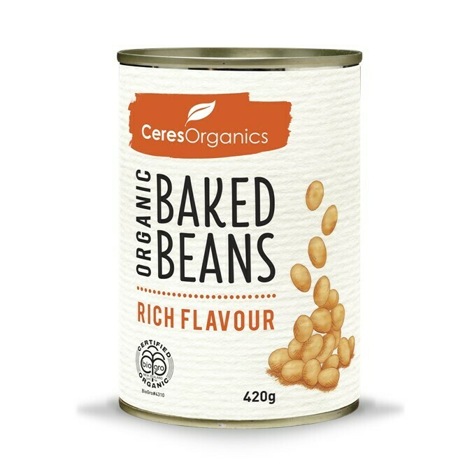 ORGANIC BAKED BEANS, RICH FLAVOUR - 420G