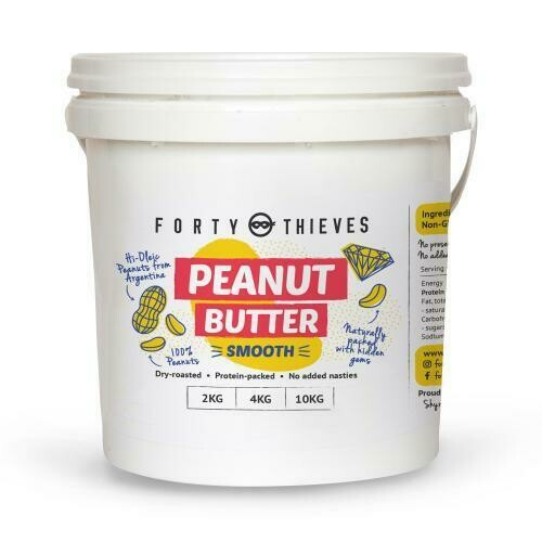Bulk Peanut Butter Smooth (still a bit crunchy) - FORTY THIEVES