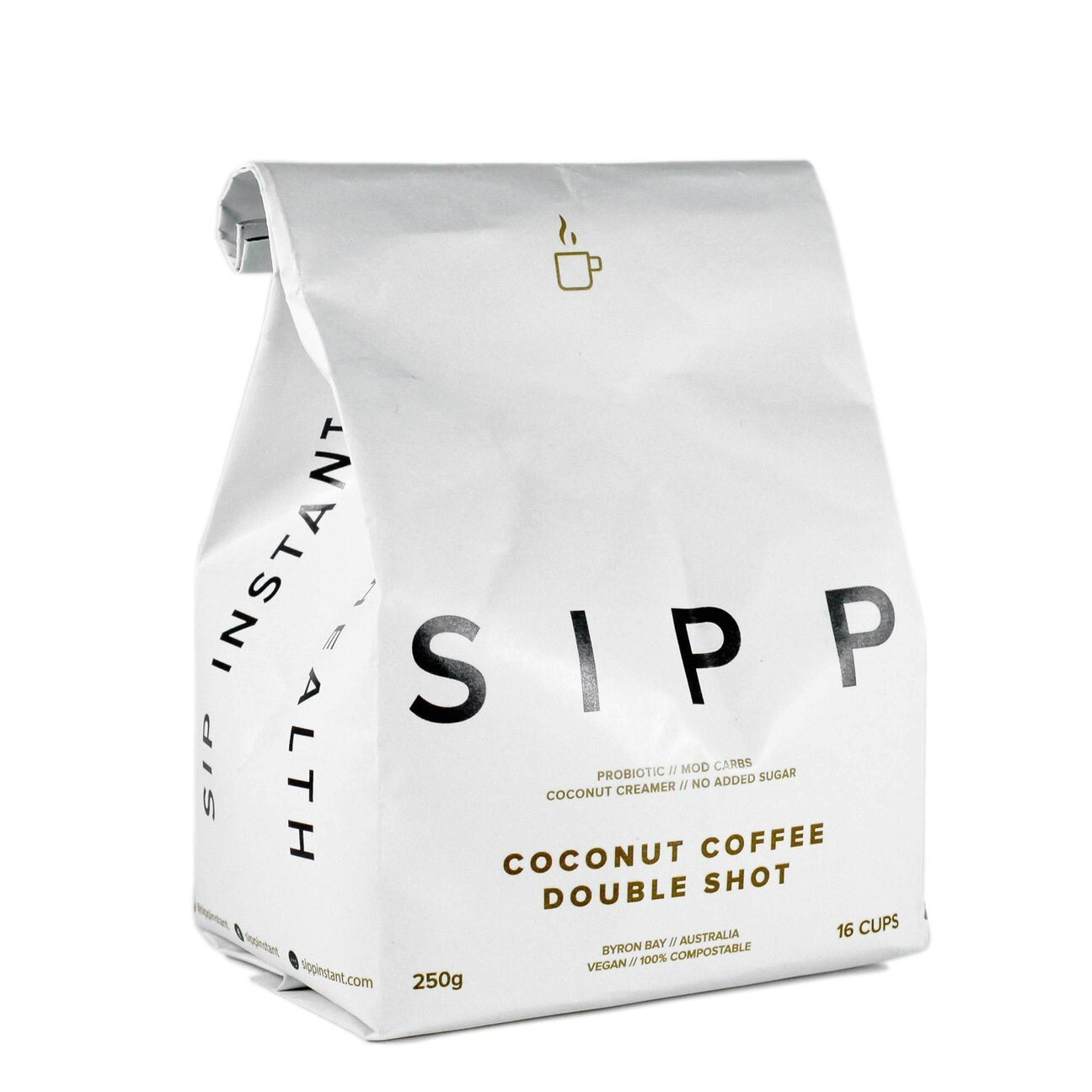 SIPP Instant Organic Coconut Coffee Double Shot