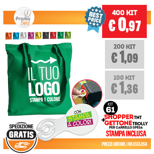 SHOPPER TNT + GETTONE TROLLY | KIT 61