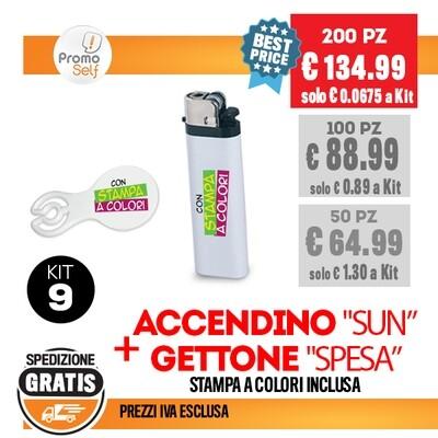 KIT (9) ACCENDINO + GETTONE SPESA
