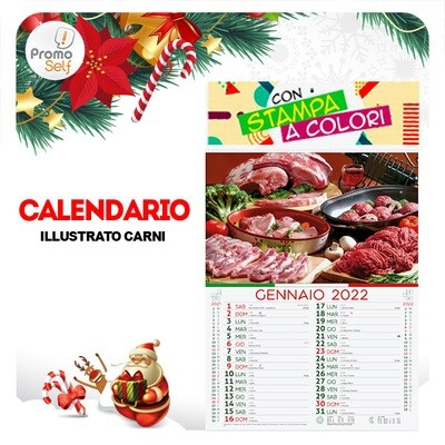 CARNI | calendario illustrato