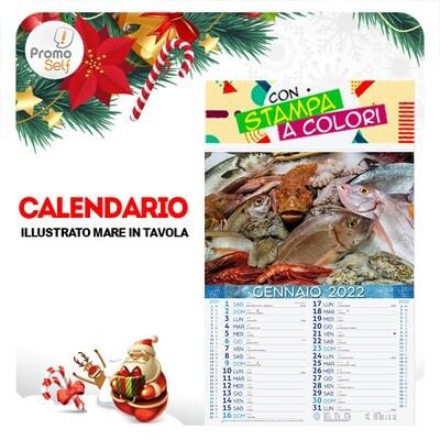 MARE IN TAVOLA | calendario illustrato
