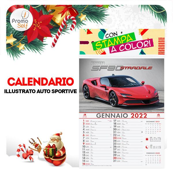 AUTO SPORTIVE | calendario illustrato