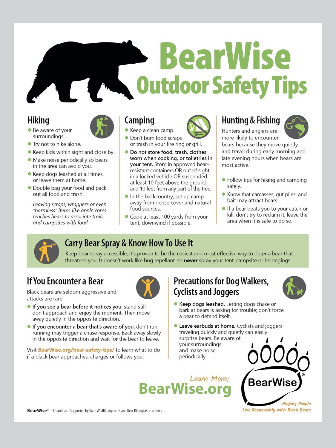 BearWise Outdoor Safety Tips Flyer