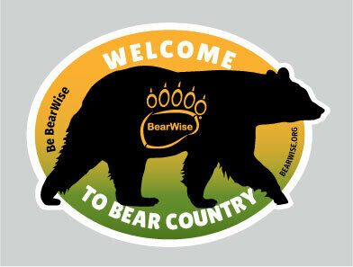 Welcome to Bear Country Sticker