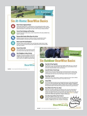 Combo Flyer: BearWise Basics, At Home & Outdoors