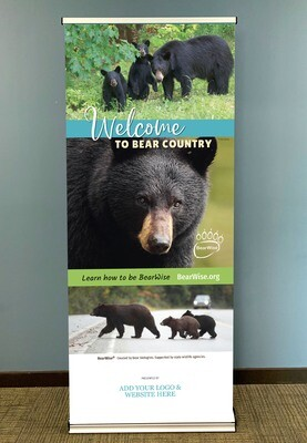 Welcome to Bear Country Standing Banner