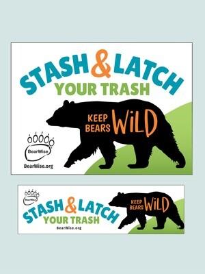 Stash & Latch Your Trash stickers