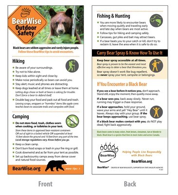 BearWise Outdoor Safety Card