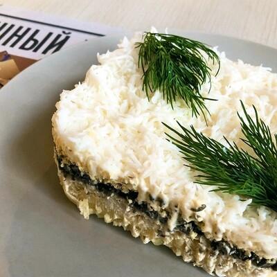 Салат из курицы с грибами