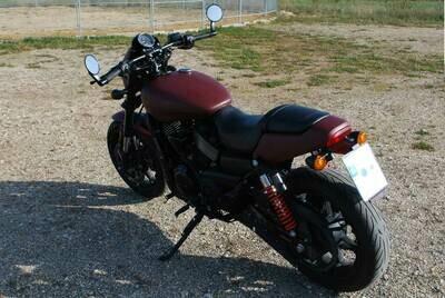 Harley Davidson Street Rod XG 750 A - Heckumbau mit zentralen Kennzeichenhalter (Fender Eliminator Kit) für Original HD Blinker