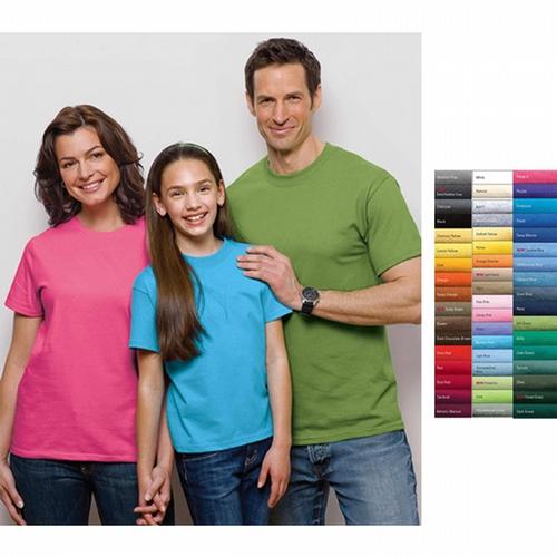 Port & Company (R) - Neutrals - Essential T-shirt, 6.1 oz. dark color heavyweight cotton, cover seamed neck, blank.