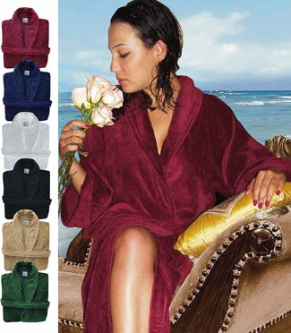 Royal Comfort luxurious bath robes. Shawl Collar.