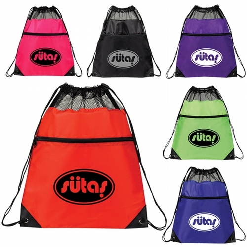 Drawstring Backpack Size 15 x 18 .  50 pcs in total.
