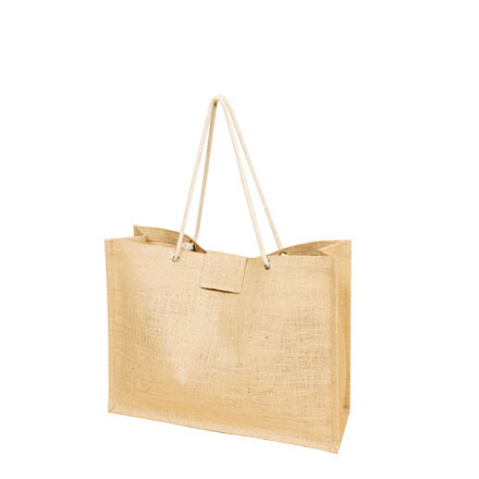Jute Shopping bag with Rope handle and Velcro enclosure. (Price for 50 pcs)