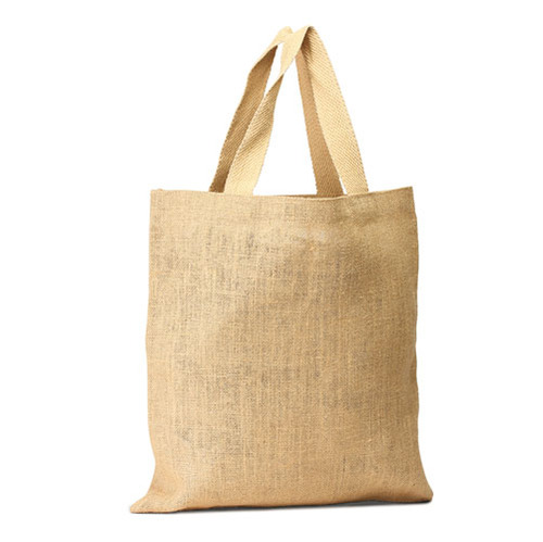 Unlaminated jute Shopping Bag with cotton webbed handles  (Price for 50 pcs)
