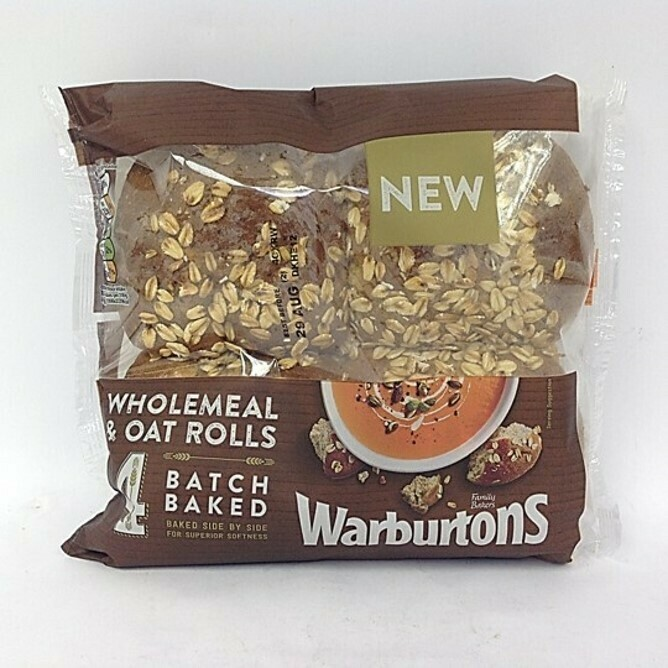 Warburtons Batch Baked Wholemeal & Oat Rolls