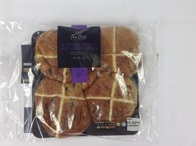 Morrisons The Best Extra Fruity Hot Cross Buns