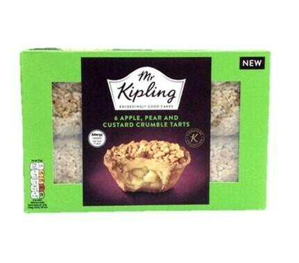 Mr Kipling 6 Apple, Pear and Custard Crumble Tarts