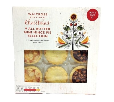 Waitrose & Partners Christmas 9 All Butter Mini Mince Pie Selection