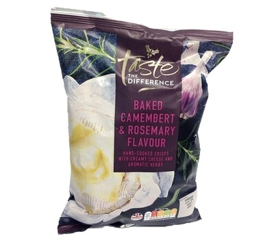 Sainsbury's Taste the Difference Baked Camembert & Rosemary Flavour Hand Cooked Crisps
