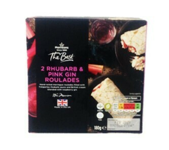 Morrisons The Best 2 Rhubarb & Pink Gin Roulades
