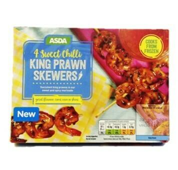 Asda 4 Sweet Chilli King Prawn Skewers