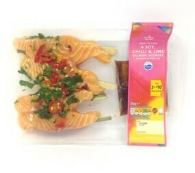 Morrisons Salmon Skewers with Chilli, Lime and Soy