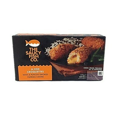 The Saucy Fish Co. 6 Cod Croquettes with a Punchy Smoked Paprika Centre