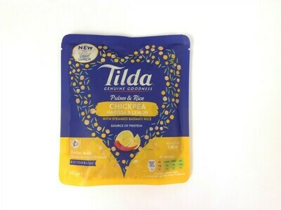 Tilda Pulses and Rice Chickpea, Harissa and Lemon