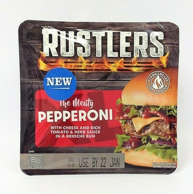 Rustlers The Meaty Pepperoni Burger