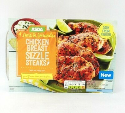 Asda 4 Lime & Coriander Chicken Breast Sizzle Steaks