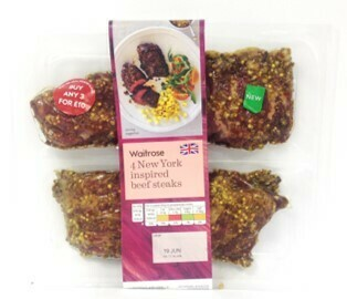 Waitrose 4 New York Beef Steak