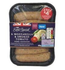 Asda Extra Special 6 Mozzarella & Smoked Tomato Pork Sausages