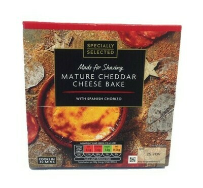 Aldi Specially Selected Mature Cheddar Cheese Bake with Spanish Chorizo