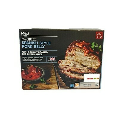 M&S The Grill Spanish Style Pork Belly with a Smoky Roasted Red Pepper Sauce