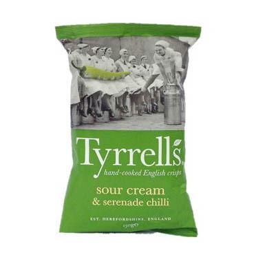 Tyrrells Sour Cream and Serenade Chilli