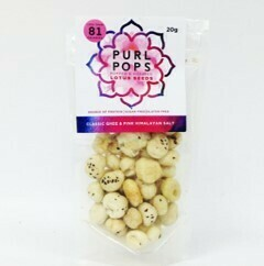 Purl Pops Popped & Roasted Lotus Seed Snacks Classic Ghee & Pink Himalayan Salt