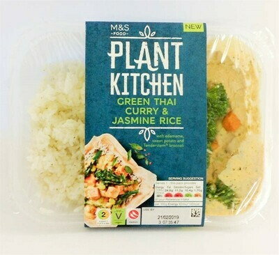 M&S Plant Kitchen Green Thai Curry & Jasmine Rice