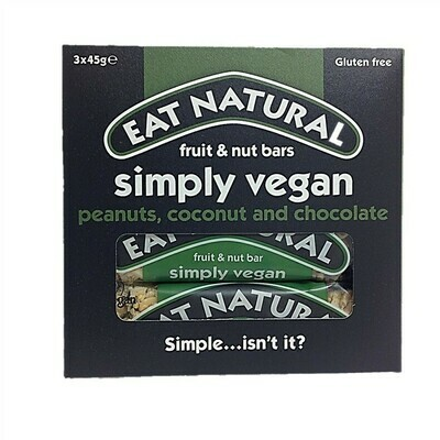 Eat Natural Simply Vegan Fruit & Nut Bars - Peanut, Coconut and Chocolate