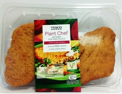 Tesco Plant Chef Battered Fish Free Fillets