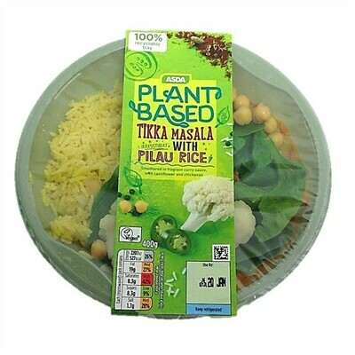 ASDA Plant Based Tikka Masala with Pilau Rice