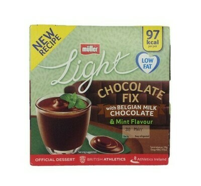 Muller Light Chocolate Fix with Belgian Milk Chocolate and Mint Flavour